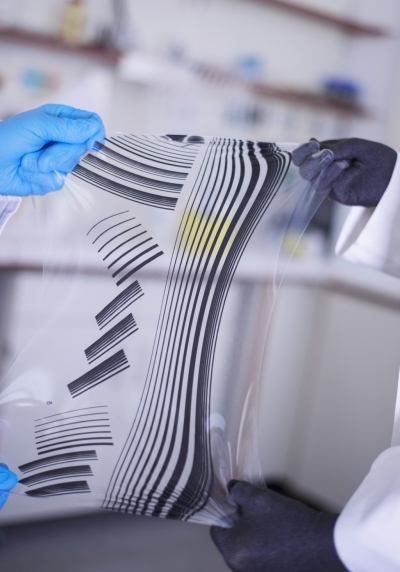 Stretchable printed conductors, Fraunhofer ISC